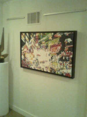 Installation shot of original artworks by Kyle Clements